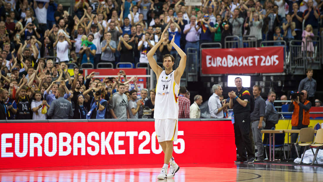 Dirk Nowitzki und die Deutsche Basketball-Nationalmannschaft bei den EuroBasket 2015 in Berlin
