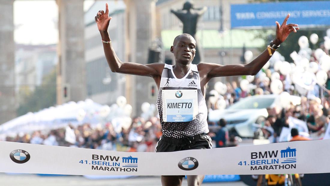 BERLIN MARATHON: Dennis Kimetto Kimetto läuft mit 2:02:57 Stunden Weltrekord