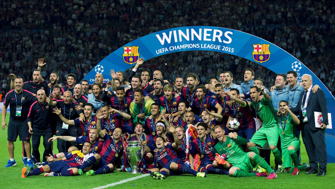 FC Barcelona gewinnt die UEFA Champions League 2015 in Berlin
