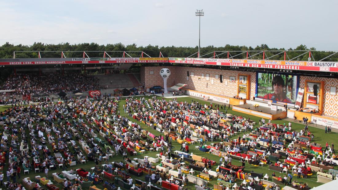 WM Wohnzimmer im Stadion an der Alten Försterei, Fotoquelle: An der Alten Försterei Stadionbetriebs AG